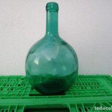 Vintage: BOTELLA GARRAFA DAMAJUANA LEVANTE DE 4 LITROS TONO COLOR VIDRIO AZUL FLORERO VINO AGUA ACEITE OLIVA. Lote 203104765