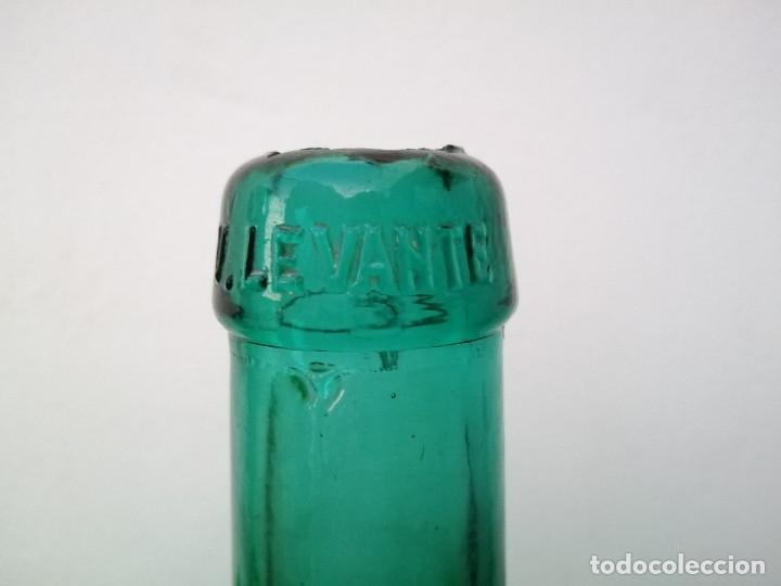Vintage: Botella garrafa DAMAJUANA LEVANTE de 4 Litros tono color vidrio azul florero vino agua aceite oliva - Foto 2 - 203104765