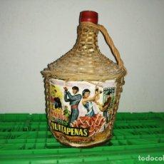 Vintage: BOTELLA GARRAFA DAMAJUANA QUITAPENAS DE MÁLAGA JOSÉ SUÁREZ VILLALBA MOSCATEL. Lote 203106186