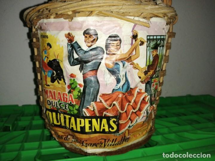 Vintage: Botella garrafa DAMAJUANA QUITAPENAS de MÁLAGA José Suárez Villalba moscatel - Foto 2 - 203106186