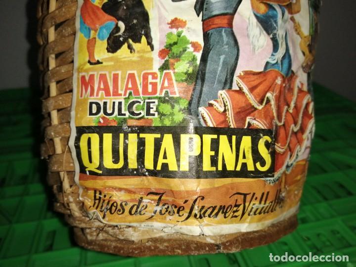 Vintage: Botella garrafa DAMAJUANA QUITAPENAS de MÁLAGA José Suárez Villalba moscatel - Foto 3 - 203106186
