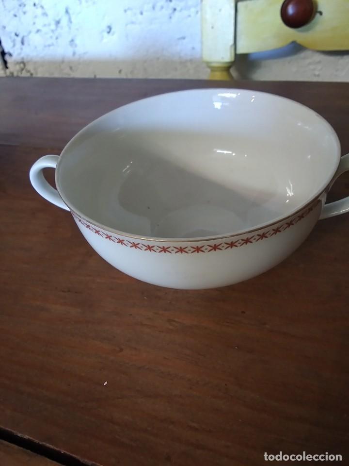 TAZA CONSOME BIDASOA (Vintage - Decoración - Porcelanas y Cerámicas)