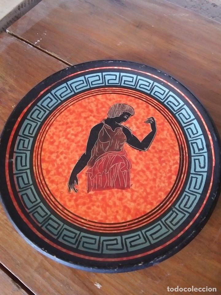 PLATO DE CERAMICA GRECIA (Vintage - Decoración - Porcelanas y Cerámicas)