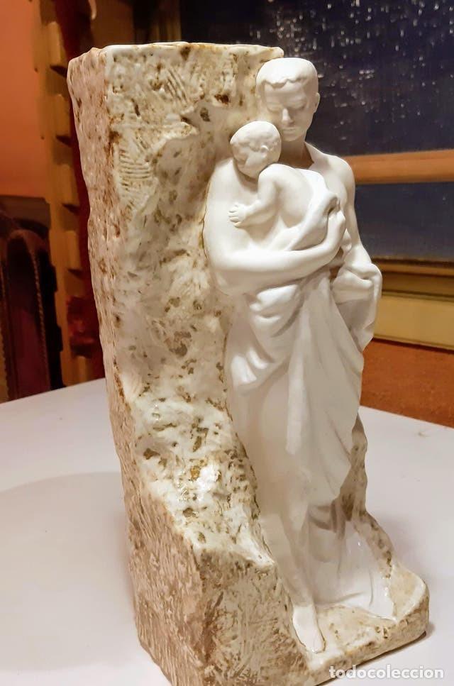 Vintage: Lladro ceramica figura de hombre con niño - Foto 4 - 204768960