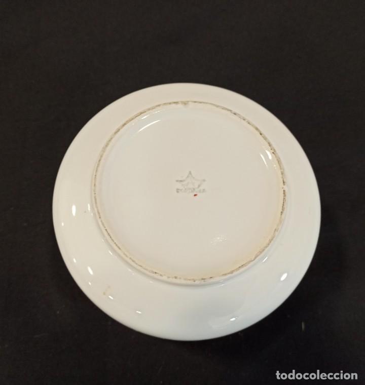 Vintage: Cuenco de cerámica con decoración floral en lazo. C11 - Foto 5 - 204839312