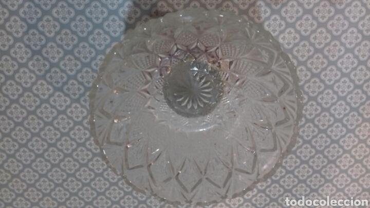 Vintage: Impresionante copa de cristal tallado con peana de marmol años 60 - Foto 6 - 205258518