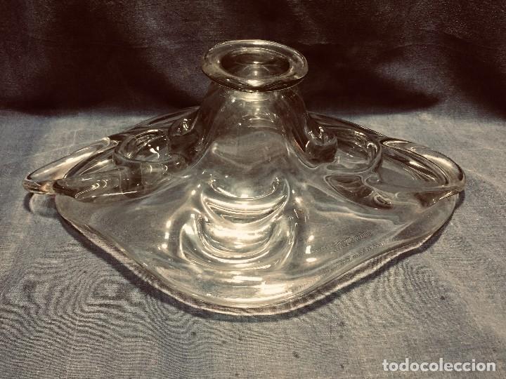 Vintage: copa centro cristal francia años 50 no firma 15x45x32cms - Foto 5 - 205288927