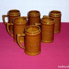 Vintage: 6 GRANDES JARRAS DE CERAMICA - ISLA DE LA JUVENTUD CUBA.15.5 CM.. Lote 206183987