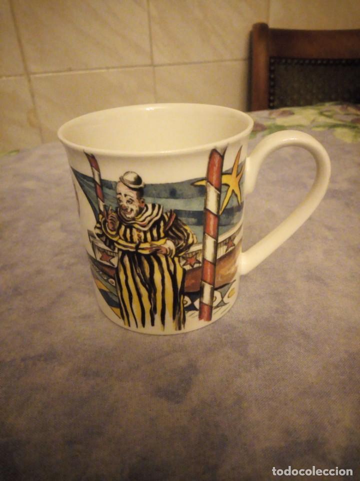 PRECIOSA TAZA DE DESAYUNO DE PORCELANA VILLEROY & BOCH- CIRCO (Vintage - Decoración - Porcelanas y Cerámicas)