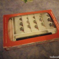 Vintage: 5 TARJETAS DE MESA DE PORCELANA COMBINADAS CON CANDELABRO FUNNY DESIGN ,70S.. Lote 206399467