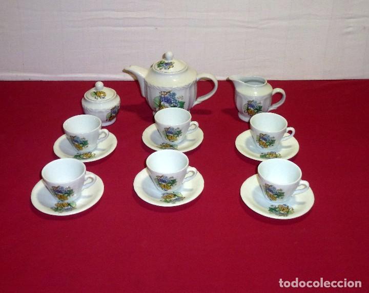 JUEGO DE TE O CAFE DE PORCELANA. (Vintage - Decoración - Porcelanas y Cerámicas)