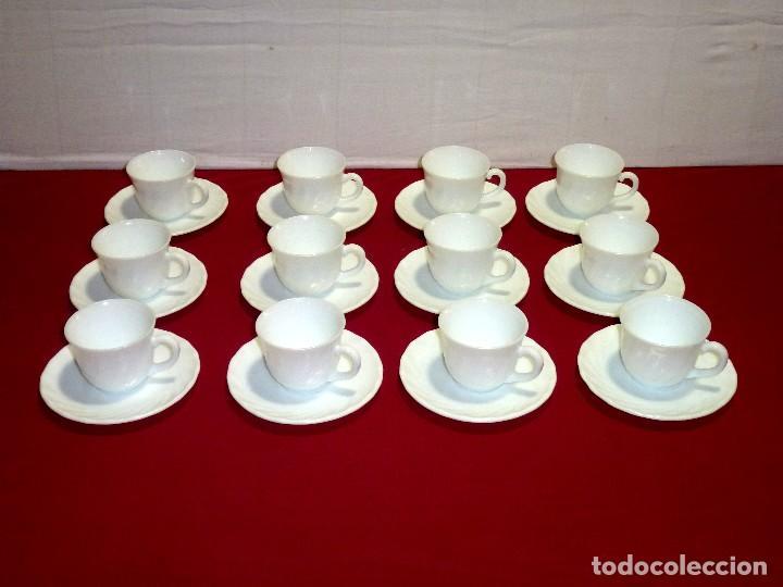JUEGO DE 12 SERVICIOS DE CAFE. (Vintage - Decoración - Cristal y Vidrio)