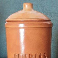 Vintage: BOTE DE ALUBIAS.ALFARERIA POPULAR. 19X9,5 CM. Lote 206895286