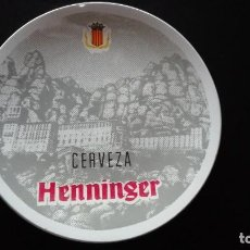 Vintage: PLATO CERAMICA CERVEZA HENNINGER. Lote 207277255