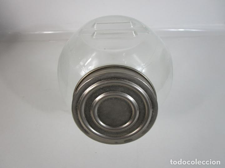 Vintage: Carameleros, Bomboneras - Cristal Redondo, Apilable - Tapón Metálico - de Antigua Tienda, Confitería - Foto 21 - 207472217
