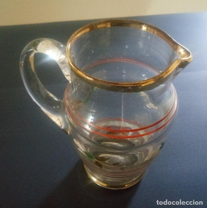 JARRÓN JARRA DE CRISTAL - 18 X 9 X 8.5 CMS (Vintage - Decoración - Jarrones y Floreros)