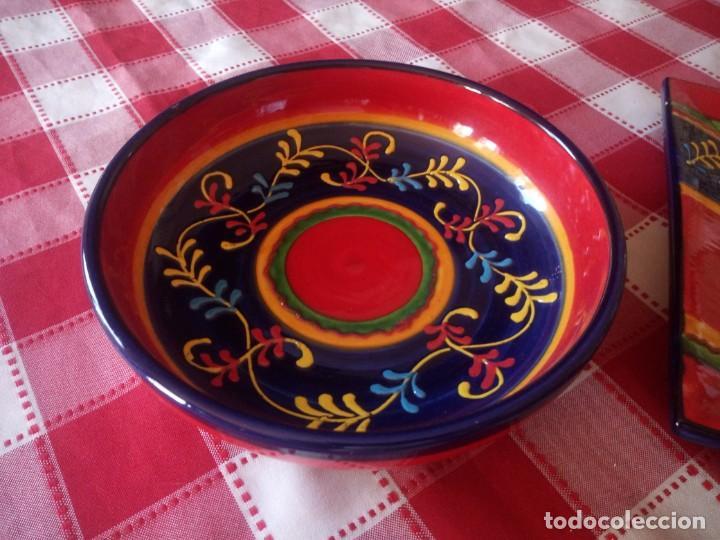 Vintage: Lote de 1 cuenco y 1 fuente de cerámica actual valencia,bonito colorido. - Foto 3 - 208093678