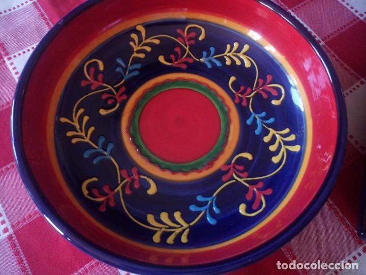 Vintage: Lote de 1 cuenco y 1 fuente de cerámica actual valencia,bonito colorido. - Foto 4 - 208093678