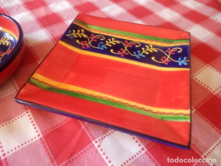 Vintage: Lote de 1 cuenco y 1 fuente de cerámica actual valencia,bonito colorido. - Foto 6 - 208093678