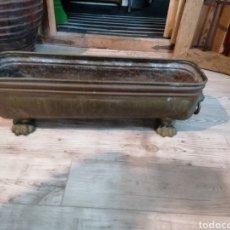 Vintage: JARDINERA DE BRONCE. Lote 209586671