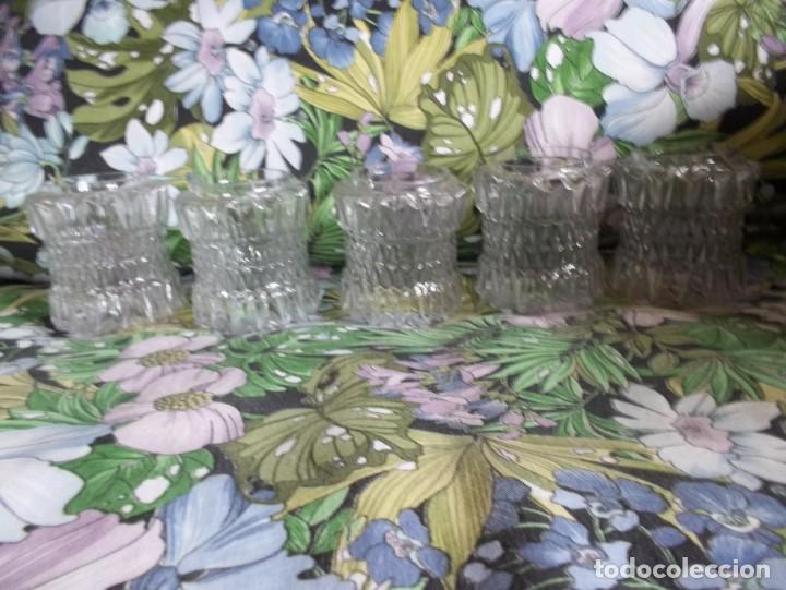 Vintage: 5 TULIPAS DE CRISTAL TALLADO-AÑOS 60 - Foto 4 - 209629171
