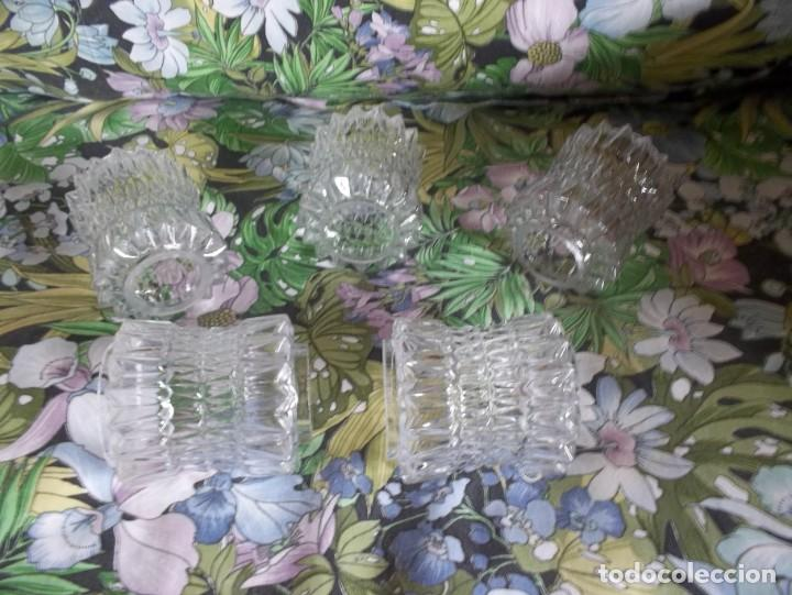 Vintage: 5 TULIPAS DE CRISTAL TALLADO-AÑOS 60 - Foto 6 - 209629171