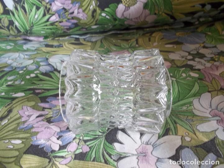 Vintage: 5 TULIPAS DE CRISTAL TALLADO-AÑOS 60 - Foto 8 - 209629171