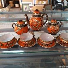 Vintage: JUEGO DE CAFÉ CHINO DE PORCELANA. Lote 210112567