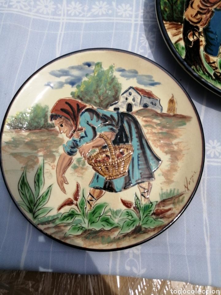 Vintage: 3 platos en ceramica - Foto 2 - 211574236