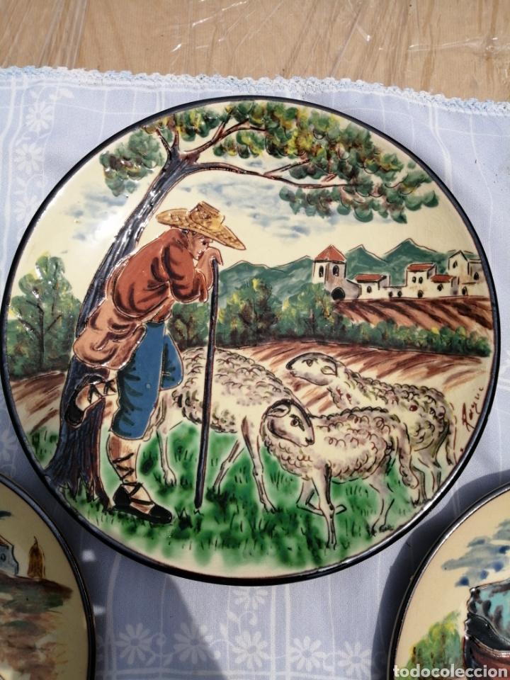Vintage: 3 platos en ceramica - Foto 3 - 211574236