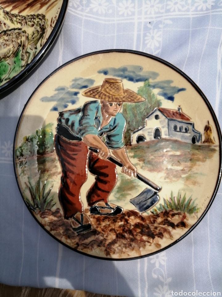 Vintage: 3 platos en ceramica - Foto 4 - 211574236