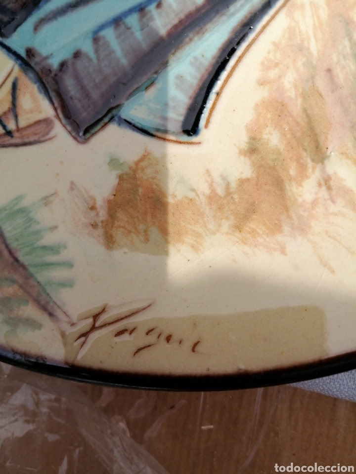 Vintage: 3 platos en ceramica - Foto 7 - 211574236
