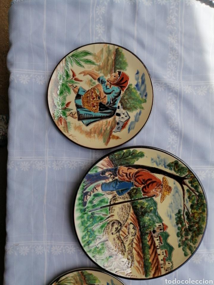 Vintage: 3 platos en ceramica - Foto 9 - 211574236