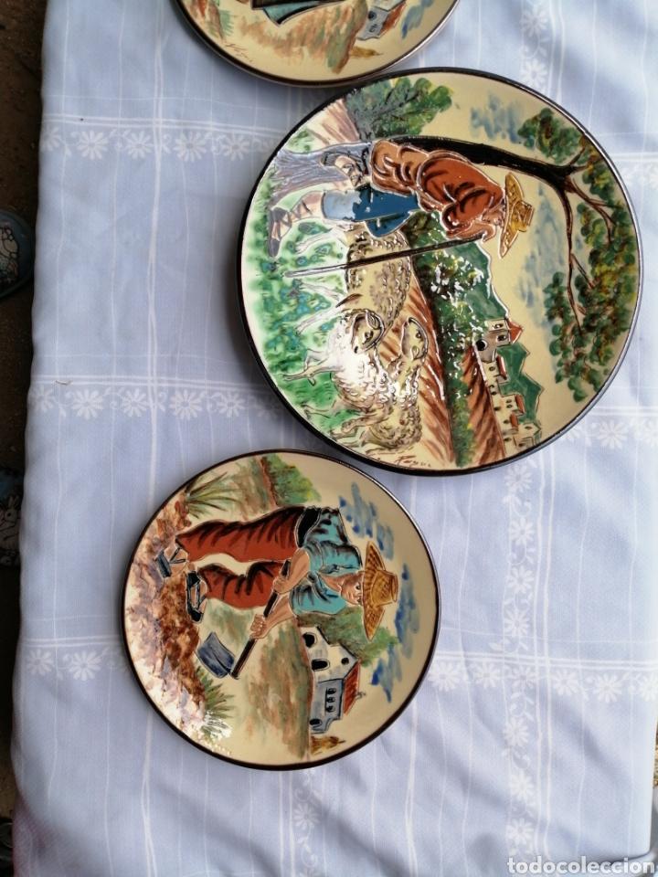 Vintage: 3 platos en ceramica - Foto 10 - 211574236