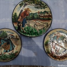 Vintage: 3 PLATOS EN CERAMICA. Lote 211574236