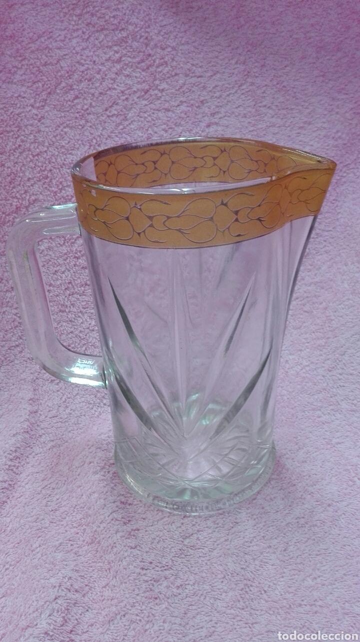 JARRA DE CRISTAL TALLADO GRUESO (Vintage - Decoración - Cristal y Vidrio)