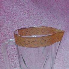Vintage: JARRA DE CRISTAL TALLADO GRUESO. Lote 211837060