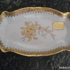 Vintage: DELICADA BANDEJA DECORADA EN ORO DE 24 KILATES. LAURENT`S GOLD. Lote 211924743