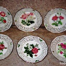 Vintage: COLECCION PLATOS LAS ROSAS DE REDOUTE- 6- BAVARIA SCHUMAN- PERFECTO ESTADO-. Lote 212430195