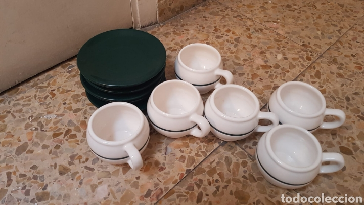 Vintage: Juego para desayuno o merienda Vintage (6 tazas, platos y una jarra) - Foto 2 - 212945875