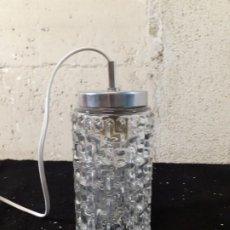 Vintage: LAMPARA TECHO CRISTAL PRENSADO. Lote 213077855