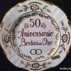 Vintage: PLATO 50 ANIVERSARIO GRANDE SEMI-ORO. Lote 213103647