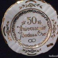 Vintage: PLATO 50 ANIVERSARIO ORO - PEQUEÑO .. Lote 213106480