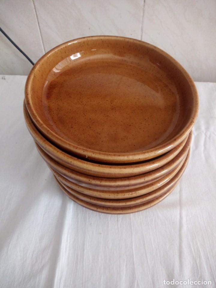 Vintage: Lote de 6 platos hondos de ceramica willm,vidriados. - Foto 2 - 213438653