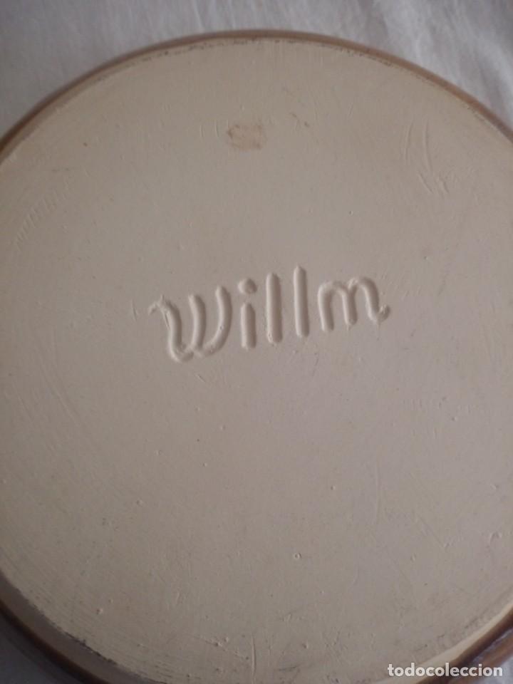 Vintage: Lote de 6 platos hondos de ceramica willm,vidriados. - Foto 4 - 213438653