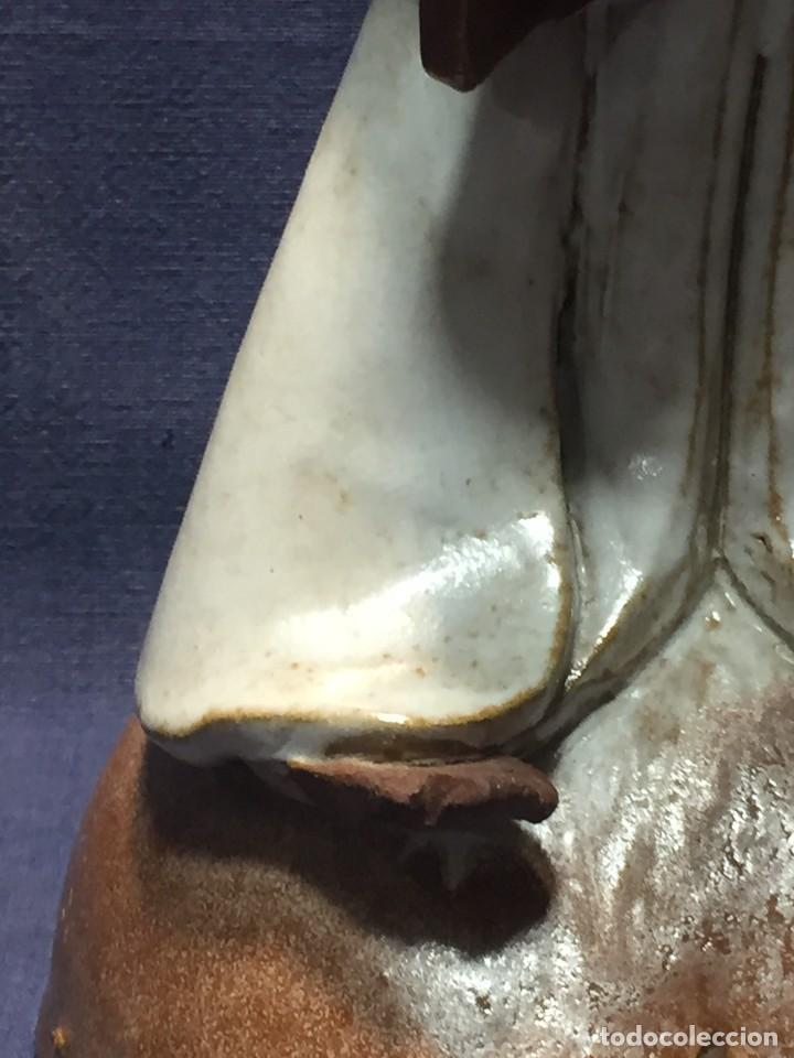 Vintage: figura de ceramica niña sentada arrodillada años 60 70 28x14x16cms - Foto 5 - 213445666