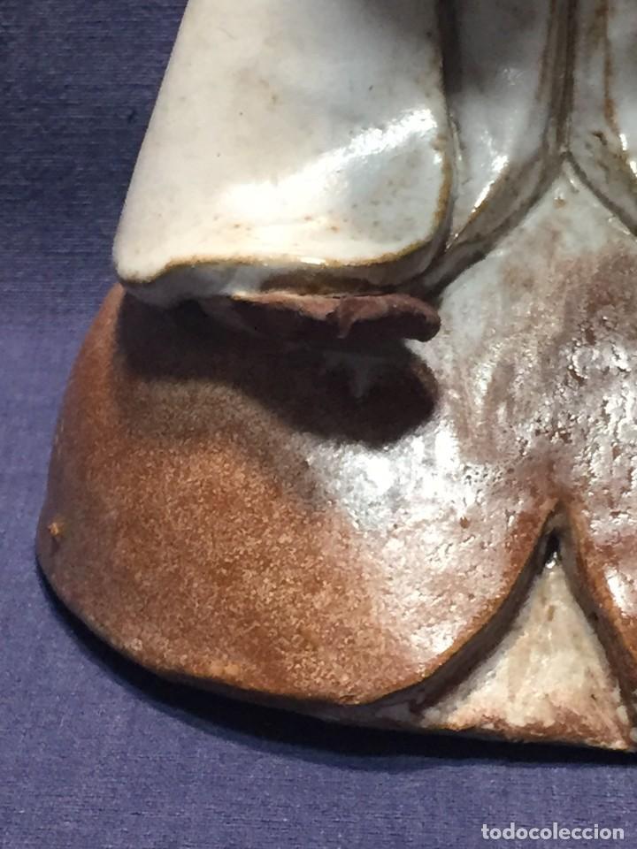 Vintage: figura de ceramica niña sentada arrodillada años 60 70 28x14x16cms - Foto 6 - 213445666