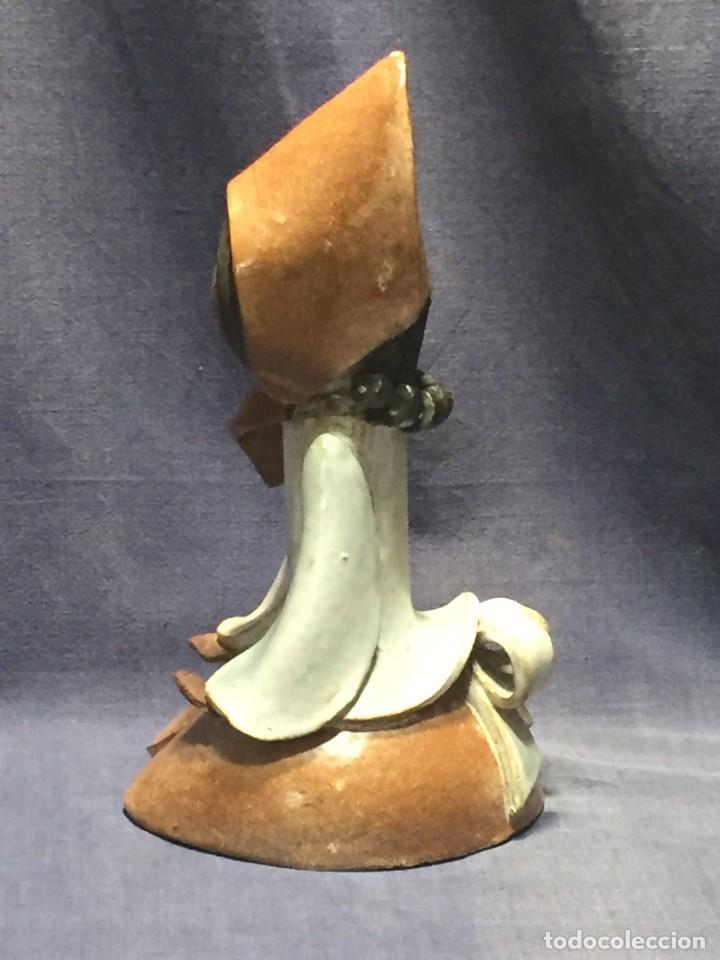 Vintage: figura de ceramica niña sentada arrodillada años 60 70 28x14x16cms - Foto 13 - 213445666