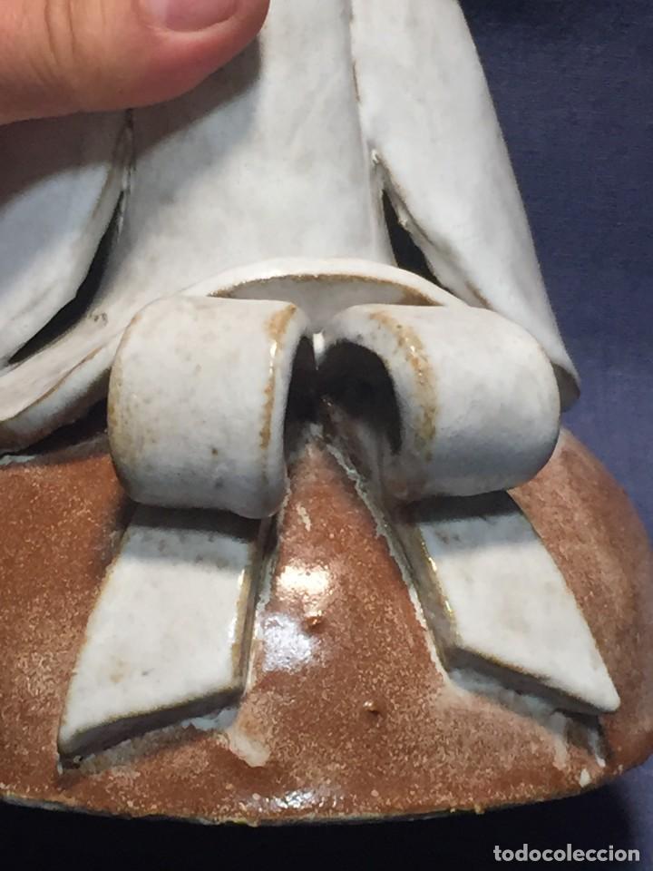 Vintage: figura de ceramica niña sentada arrodillada años 60 70 28x14x16cms - Foto 21 - 213445666