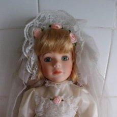 Vintage: MUÑECA DE PORCELANA NUEVA EN SU CAJA,MIDE 30 CM. Lote 214204733